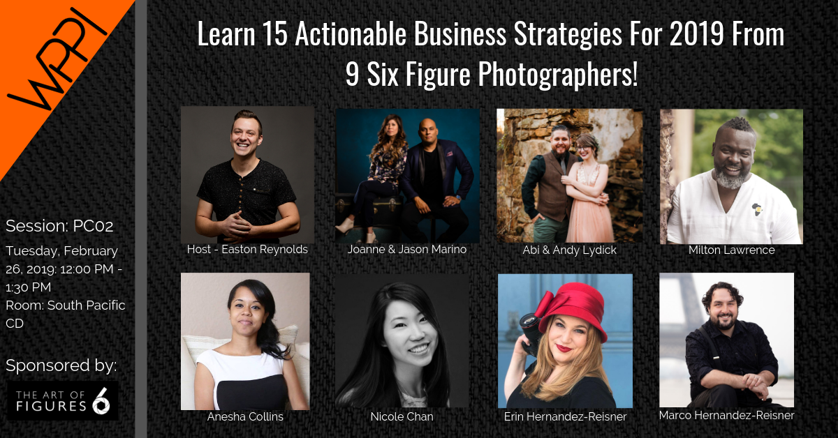 Learn 15 Actionable Business Strategies For 2019 From 9 Six Figure Photographers!